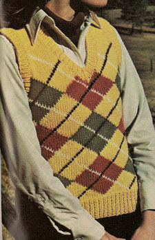 Embossed Argyle Sweater Vest Pattern – Knitting Patterns by