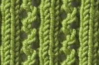 Lace Knitting Pattern Library : Knitting Stitch Library - Lace Rib Stitch